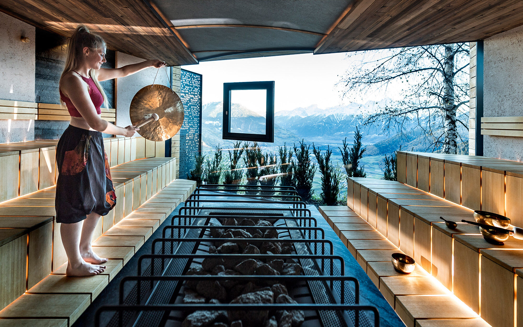 Sauna-Aufgüsse mit einmaligem Panoramablick |
