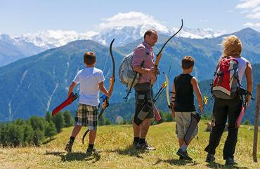 tiro con l'arco in Val Venosta